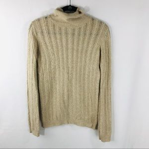 BCBG Maxazria Small Beige Cable Knit Sweater
